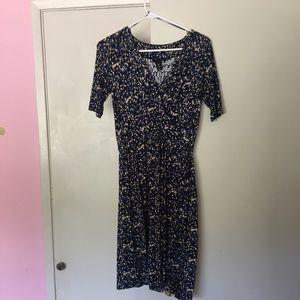 H&M floral wrap dress